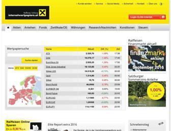 Main page screenshot of internetwertpapiere.at