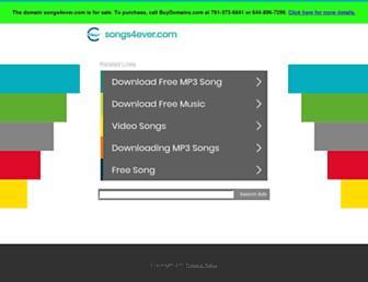 songs4ever.com screenshot