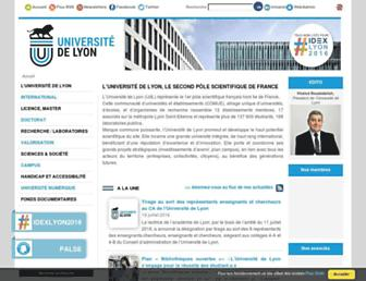 universite-lyon.fr screenshot