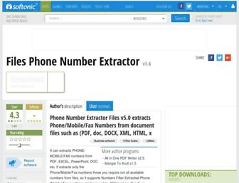 files-phone-number-extractor.en.softonic.com screenshot