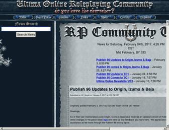 Main page screenshot of uorpc.net