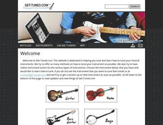 Thumbshot of Get-tuned.com