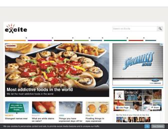 Main page screenshot of excite.co.uk