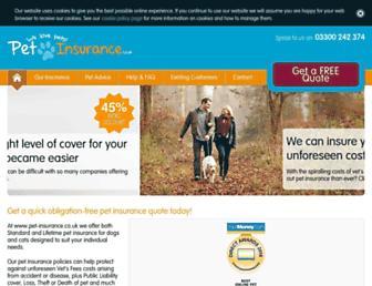 pet-insurance.co.uk screenshot