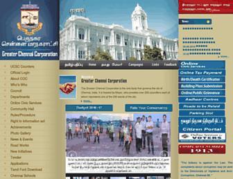 Thumbshot of Chennaicorporation.gov.in