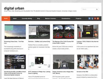 Main page screenshot of digitalurban.org