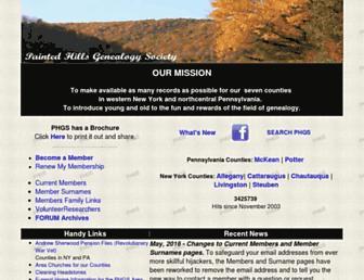 Main page screenshot of paintedhills.org