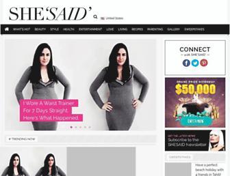 Thumbshot of Shesaid.com