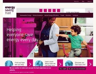 energysavingtrust.org.uk screenshot