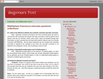 beginnerspost.blogspot.com screenshot