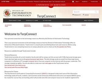 terpconnect.umd.edu screenshot