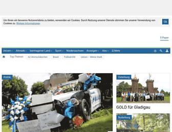 Main page screenshot of az-online.de