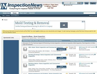 Main page screenshot of inspectionnews.net
