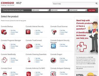 help.comodo.com screenshot