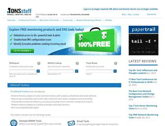 dnsstuff.com screenshot