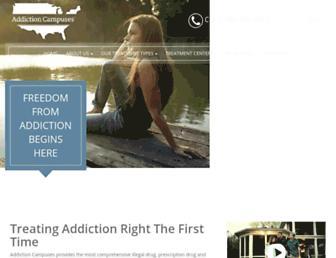 addictioncampuses.com screenshot