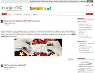 Main page screenshot of educacontic.es