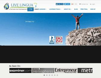 livelingua.com screenshot