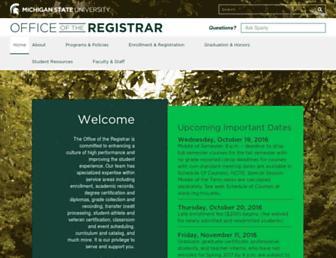 reg.msu.edu screenshot