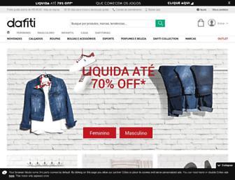 dafiti.com.br screenshot