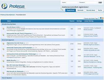 Main page screenshot of board.protecus.de