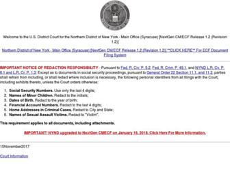ecf.nynd.uscourts.gov screenshot