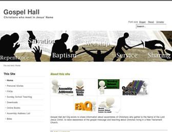 gospelhall.org screenshot