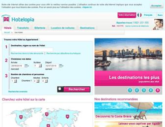 hotelopia.fr screenshot