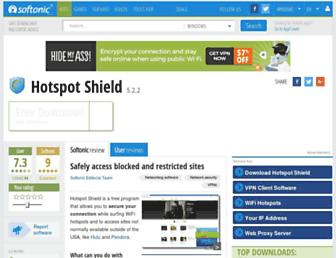 hotspot-shield.en.softonic.com screenshot