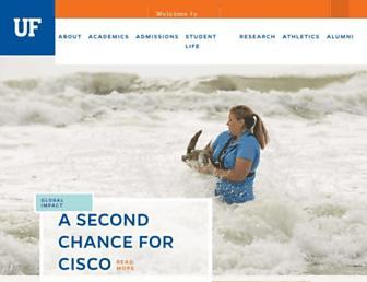 Main page screenshot of ufl.edu