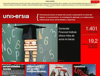 Main page screenshot of universia.net