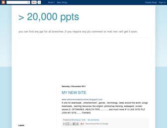 onlyppts.blogspot.com screenshot