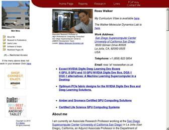 Main page screenshot of rosswalker.co.uk
