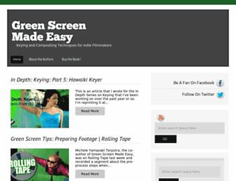 greenscreenmadeeasy.com screenshot