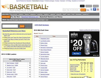 Thumbshot of Basketball-reference.com