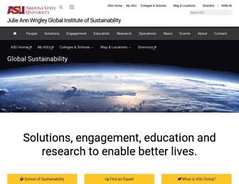 sustainability.asu.edu screenshot