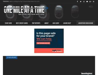 onemileatatime.com screenshot