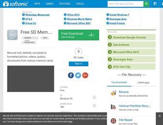 free-sd-memory-card-data-recovery.en.softonic.com screenshot