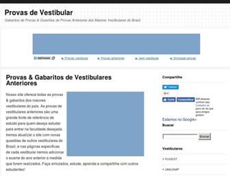 provasdevestibular.com.br screenshot