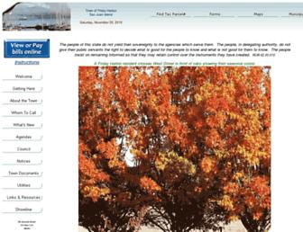 Main page screenshot of fridayharbor.org