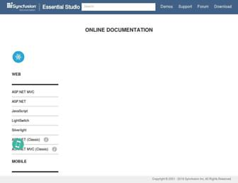 help.syncfusion.com screenshot