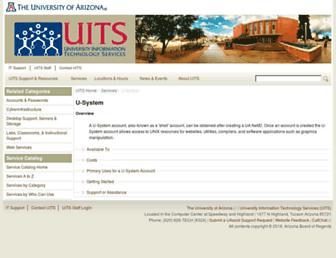 u.arizona.edu screenshot