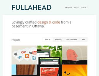 Main page screenshot of fullahead.org