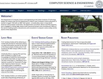 Main page screenshot of cse.iitk.ac.in