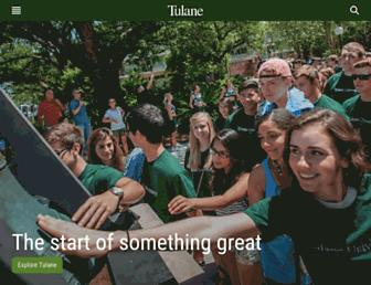 Main page screenshot of tulane.edu