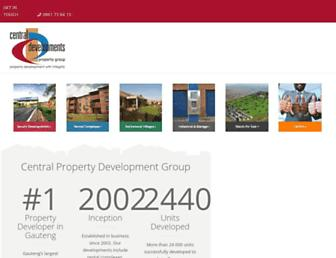 centraldevelopments.co.za screenshot
