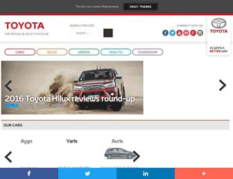 blog.toyota.co.uk screenshot