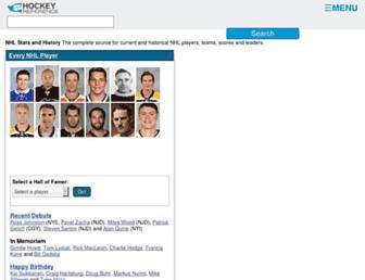 Thumbshot of Hockey-reference.com