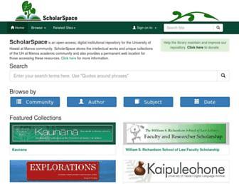 scholarspace.manoa.hawaii.edu screenshot