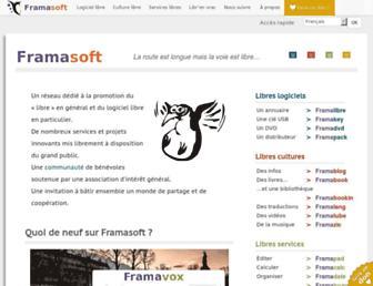 Main page screenshot of framasoft.org
